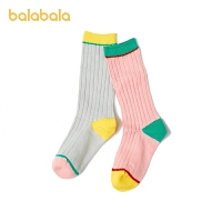 巴拉巴拉儿童袜子春季新款女童棉袜保暖幼童活力十足两双装