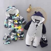 婴儿连体衣宝宝衣服秋冬加厚外出服装儿童加棉哈衣