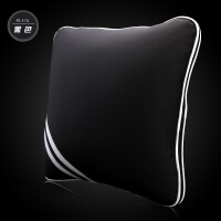 维莱 汽车空调被 抱枕腰靠两用 靠枕 靠垫 纯棉被子 黑色 通用