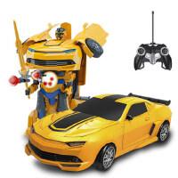 美致变形金刚汽车人一键变身坦克威震天充电动儿童玩具遥控车