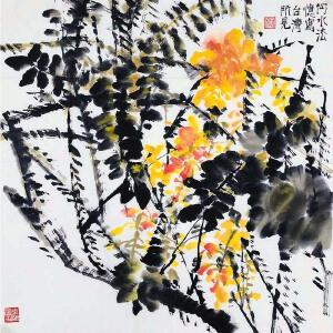 中国美协会员 何水法《花》DYP95
