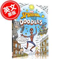 现货 英文原版 蜘蛛侠涂色书 平装 6-8岁 漫威周边 Spider-Man Doodles ( Doodle Boo