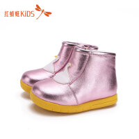 【1件2折后:35.8元】红蜻蜓童鞋冬款韩版卡通冬季保暖小公主雪地靴儿童靴子