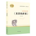 名师荟读《苏菲的世界》八年级下册阅读指导 名著阅读课程化丛书 智慧熊图书