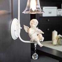 壁灯 欧美书房床头led创意水晶欧式现代简约客厅过道卧室美式儿童灯具 创意灯具