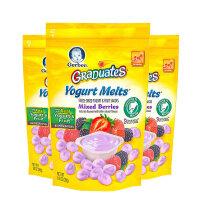 美国直邮/保税区 Gerber嘉宝 混合莓味酸奶小溶豆 28g*3 海外购