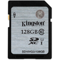 Kingston金士顿128GB 80MB/s SD Class10 UHS-I高速SD存储卡 数码相机内存卡扩展卡