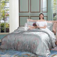 床上四件套全棉纯棉欧式床单六件套丝滑提花被罩