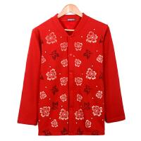 男女中老年棉开襟保暖上衣单件加绒加厚开衫秋衣保暖棉内衣