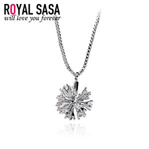 皇家莎莎雪花项链女锁骨链韩国版个性简约百搭气质银项链饰品礼物