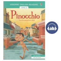 【首页抢券300-100】Usborne 英文原版图书 English Readers Level 2 Pinocchi