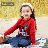 巴拉巴拉童装女童毛衣小童宝宝针织衫儿童套头衫秋装2017新款纯棉