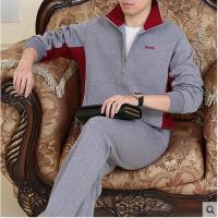 男款休闲大码运动服套装 中老年运动套装 男长袖棉卫衣
