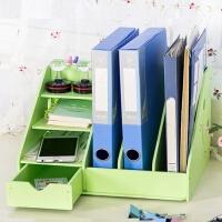 a4纸桌面收纳盒办公室用品书桌文具文件书本杂物置物架整理盒