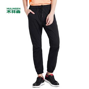 木林森男装 2017春季新款男士运动休闲裤 针织舒适男长裤
