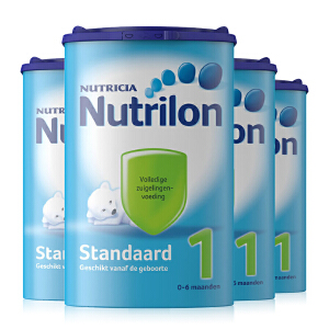 德国直邮 荷兰Nutrilon牛栏奶粉1段(0-6个月宝宝) 850g【4罐装】