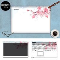 惠普 ENVY13暗夜精灵ENVY 14/15 CQ43笔记本创意外壳保护膜贴纸 SC-939 三面+键盘贴