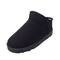 短靴冬季雪地靴女简约经典平底短筒靴子加厚加绒保暖棉靴学生棉鞋