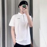 【品牌特惠】诺诗兰19新款男士户外快干透气吸汗防晒翻领短袖T恤GL085B25