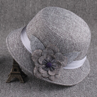 女士帽子春秋帽子女时尚妈妈中年薄款女帽老太太帽子奶奶老人帽夏 M(56-58cm)