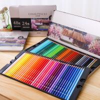 得力72色油性彩色铅笔学生专业素描手绘美术绘画彩铅画笔套装