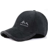 冬季男帽子中老年条绒棒球帽护耳保暖鸭舌帽厚中年帽子