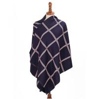 围巾女冬季厚保暖大披肩两用秋冬季双面格子围巾