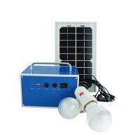 5W家用6V太阳能电池板小型发电照明系统手机充电器户外夜市