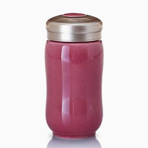 乾唐轩活瓷正品幸福中曲线随身杯350创意陶瓷便携礼品水杯子特价