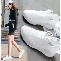 女鞋夏季款女凉鞋透气飞织网面休闲运动鞋潮流韩版散步鞋平底网鞋