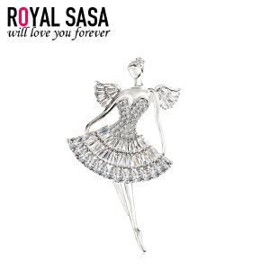 皇家莎莎芭蕾天使胸针胸花女时尚别针欧美可爱开衫配饰送女友生日礼物