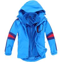 童装秋冬季儿童三合一冲锋衣外套户外大男童可拆卸两件套