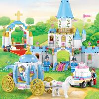 【5折包邮 限时抢购】开智 积木 塑料拼插拼装灰姑娘梦幻世界小女孩礼物6岁以上卡通童话亲子互动游戏儿童玩具用品