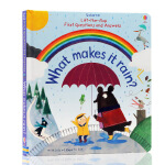 英文原版绘本 What makes it rain雨水怎样形成 Usborne Lft-The-Flap 儿童百物科科