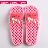 拖鞋女夏家居室内软底防滑可爱浴室洗澡家用夏天情侣按摩男凉拖鞋