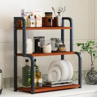【一件3折】桌面厨房置物架落地多层收纳架子微波炉烤箱储物架省空间