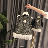 女童背心裙秋冬1-3岁女童裙子加绒宝宝裙婴幼儿公主裙