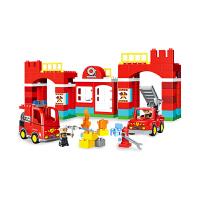 【大颗粒 防吞服 兼容乐高积木乐高得宝】城市消防队109PCS 主题积木儿童玩具益智玩具3岁生日礼物 大包装