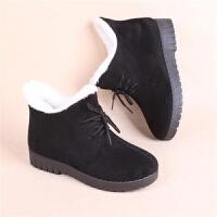 冬季老北京布鞋女棉鞋加绒保暖防滑女士靴中老年妈妈老人居家短靴