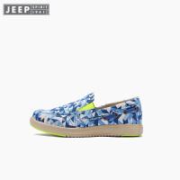 【618大促-每满100减50】Jeep/吉普童鞋 男女童帆布鞋一脚蹬运动透气休闲鞋秋季新款
