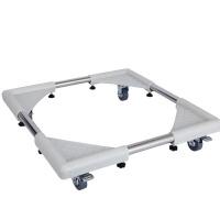 家用洗衣机冰箱脚架不锈钢底座滚轮垫脚 可调支架移动脚托架