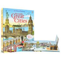 【首页抢券300-100】Usborne See Inside Great Cities 看里面认识大城市 揭秘儿童百科