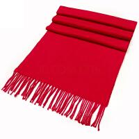 年会大红色围巾定制 中国红围巾logo刺绣订做 开业典礼聚会活动