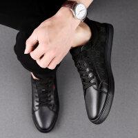 夏季透气休闲皮鞋男潮鞋韩版百搭小个子小码板鞋时尚低帮男鞋36码