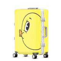 2018新款儿童卡通拉杆箱可爱鸭子行李箱万向轮登机箱子母箱铝框箱