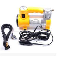 车载充气泵大功率金属铜芯打气泵便携式12v单杠带灯二合一
