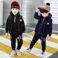 男童冬装套装冬季童装儿童秋装宝宝金丝绒三件套