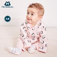【129元任选3】迷你巴拉巴拉婴幼儿衣服秋新款男女宝宝卡通印花夹棉儿童上衣