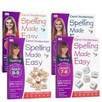 【全店300减100】英文原版 Spelling Made Easy Year 1-4【4册合售】小学生课后作业 DK出