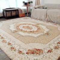 欧式古典客厅 茶几 地毯家用简约沙发卧室床边满铺大地垫脚垫